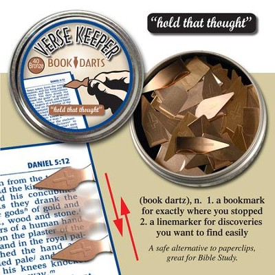 Bible Verse Marker Darts, Bronze Color  -