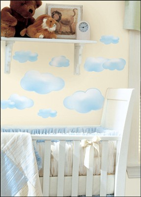 Clouds Vinyl Wall Stickers, Blue  -
