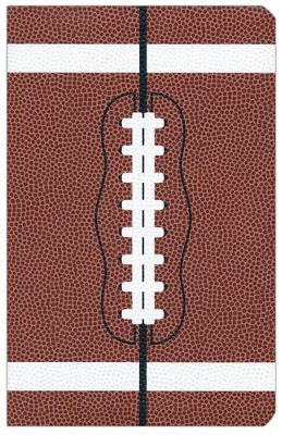 NIV Sports Collection Bible--soft leather-look, brown with football design  -