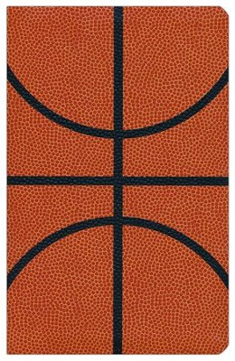 NIV Sports Collection Bible--soft leather-look, orange with basketball design  -