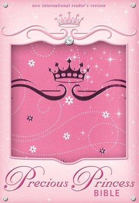 NIrV Precious Princess Bible, Compact, Italian Duo-Tone, Pink Sparkle  -     By: Zondervan