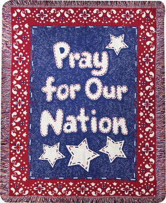 Pray For Our Nation, Woven Throw   -