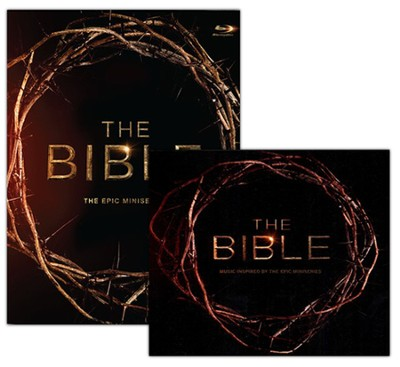 The Bible: Epic Miniseries Blu-ray with CD   -