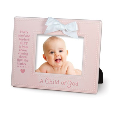 A Child of God Photo Frame, Pink  -