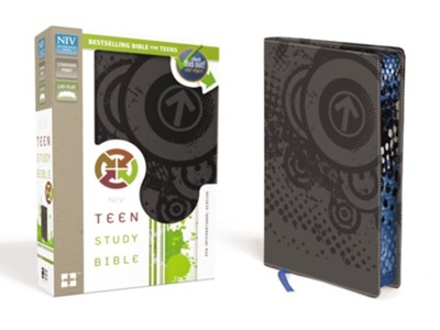 NIV Teen Study Bible, Italian Duo-Tone, Charcoal  -     By: Lawrence O. Richards, Sue W. Richards