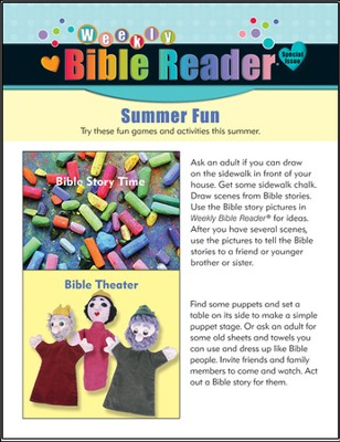HeartShaper Weekly Bible Reader, Package of 5, Summer 2012  -