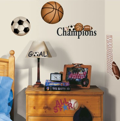 Sports Balls Vinyl Wall Stickers  -