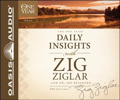 One Year Daily Insights with Zig Ziglar Unabridged Audiobook on CD  -     By: Zig Ziglar, Dwight Reighard