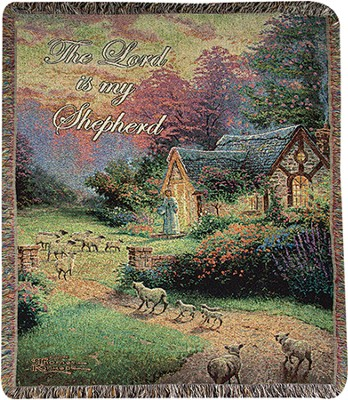 The Lord is My Shepherd Throw  -     By: Thomas Kinkade