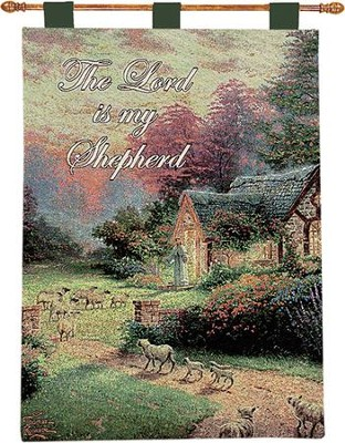 The Lord Is My Shepherd Wallhanging  -     By: Thomas Kinkade