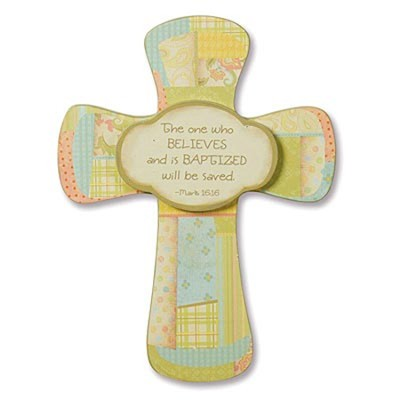 Baptism Wood Cross  -