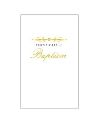 Abingdon Select Collection Certificate - Adult/Youth Baptism  -