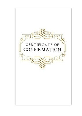 Abingdon Select Collection Certificate - Confirmation  -