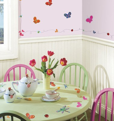 Bugs and Butterflies Vinyl Wall Stickers  -