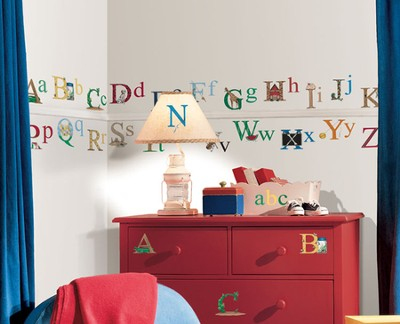 Alphabet Vinyl Wall Stickers  -