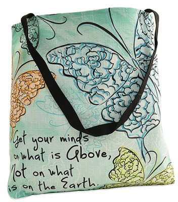 Get Your Minds On What Is Above Tote Bag  -     By: Rebecca Lyon