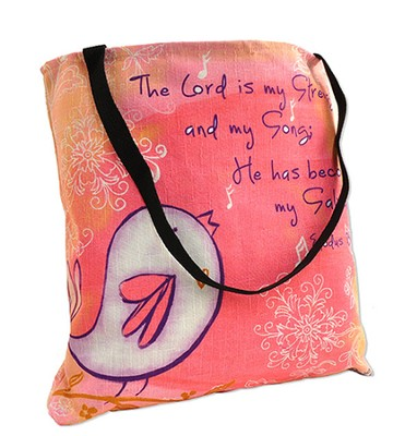 The Lord is my Strength Tote Bag  -     By: Rebecca Lyon