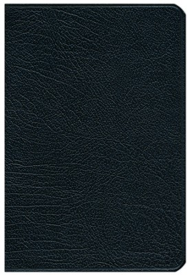 NLT Pitt Minion Reference Bible--French morocco leather, black  -