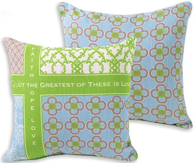 Faith, Hope, Love Pillow  -     By: Rebecca Lyon