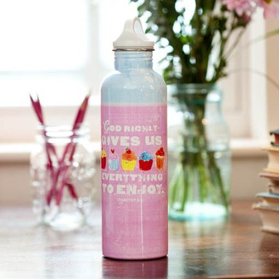 Cupcake Water Bottle, I Timothy 6:17  -