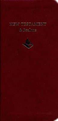 NRSV Slimline New Testament and Psalms, Anglicized, Imitation leather, burgundy  -