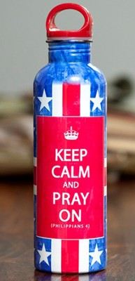Keep Calm and Pray on Water Bottle  -