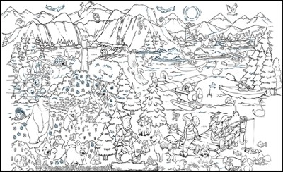 SonRise National Park Coloring Mural (77 x 44)   -