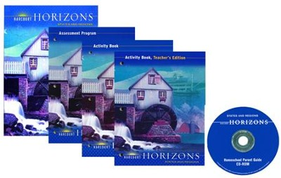 Harcourt Horizons Grade 4 Homeschool Package with Parent Guide CD-ROM  -