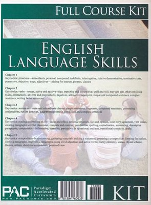 English 1: Language Skills--Full Course Kit   -