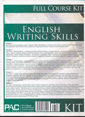 English 3: Writing Skills--Full Course Kit   -