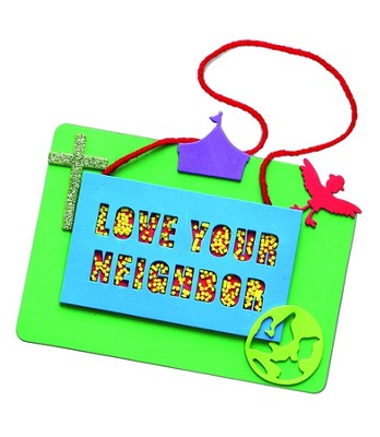 VBS 2013 Everywhere Fun Fair: Where God's World Comes Together - Friendtastic Neighbor Plaque Craft Day 3 (Package of 12)  -