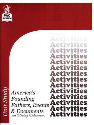 America's Founding Fathers, Events & Documents  Activities Booklet  -