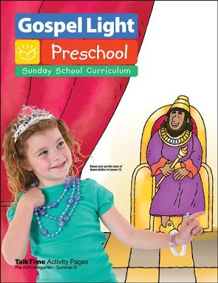 Preschool PreK and Kindergarten TalkTime Activity Pages Summer 2015 Year B  -     By: Gospel Light