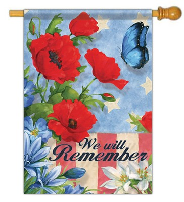 We Will Remember Flag, Large  -     By: Janet Stever