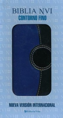 Biblia NVI Contorno Fino, Dos Tonos Italiano, Azul/Negro  (NVI Trimline Bible, Duo-Tone Italian Leather, Blue/Black)  -     By: Zondervan
