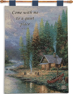 Come With Me To A Quiet Place Wallhanging  -     By: Thomas Kinkade