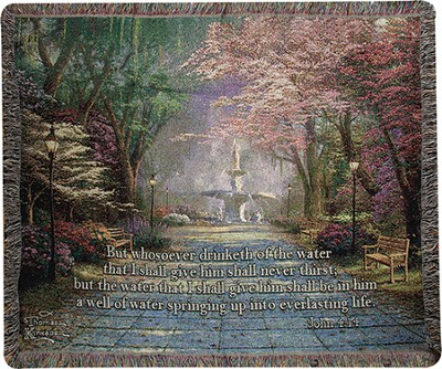 Whosoever Drinketh Of the Water Throw  -     By: Thomas Kinkade