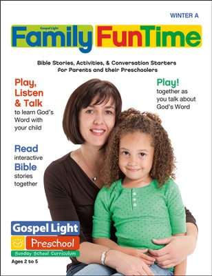 Preschool Family FunTime Pages Ages 2 - 5 Winter A  -