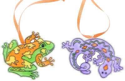 Frog and Gecko Sun Catchers, pack of 12  -