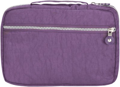 Crinkle Nylon Spine Handle Bible Cover, Purple, Extra Large  -