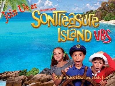 VBS 2014 SonTreasure Island- Outdoor Banner: Actual Size 4'x  3'  -