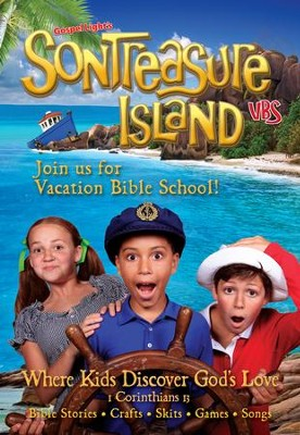 VBS 2014 SonTreasure Island- Invitation Postcard: 50 Pack  -