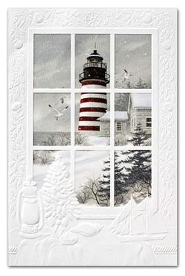West Quoddy Lighthouse Cards, Box of 16  -     By: Kathy Glasnap