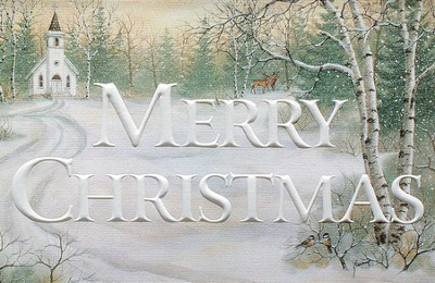 Merry Christmas, Country Road Cards, Box of 16  -     By: Kathy Glasnap