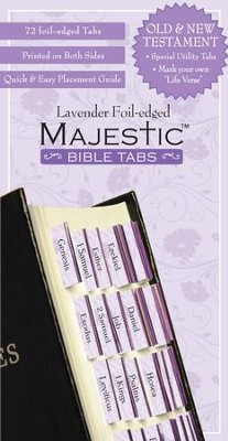 Majestic Bible Tabs - Lavender  -