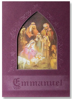 Emmanuel Christmas Cards, Pack of 20  -