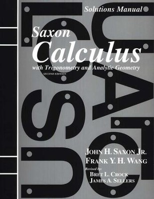 Calculus Solutions Manual, 2nd Edition   -