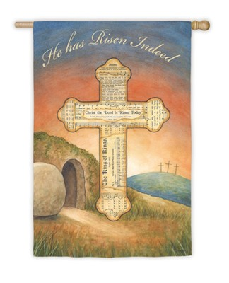 He Has Risen Flag, Large  -     By: Annie Lapoint