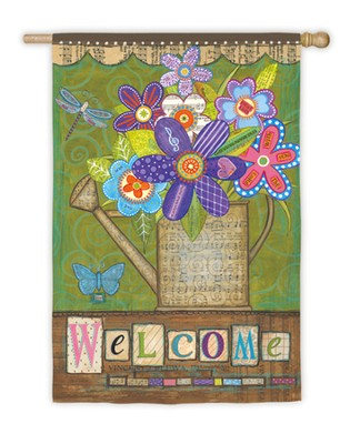 Welcome Bouquet Flag, Large  -     By: Annie Lapoint