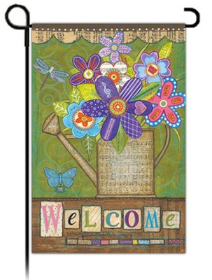 Welcome Bouquet Flag, Small  -     By: Annie Lapoint